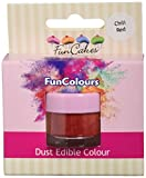 FunCakes Edible FunColours Dust - Chili rot, 5er Pack (5 x 1 g)