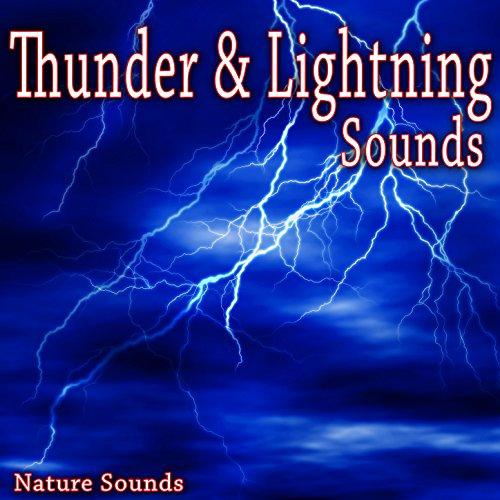 Rain Hits Hard Surface with Thunder and Lightning - Surface Thunder