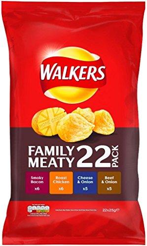 Preisvergleich Produktbild Walkers Crisps Variety Meaty 22 x 25g