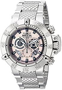 Invicta Men's Subaqua 50mm Chronograph Steel Bracelet & Case Swiss Quartz Grey Dial Date Watch 11590