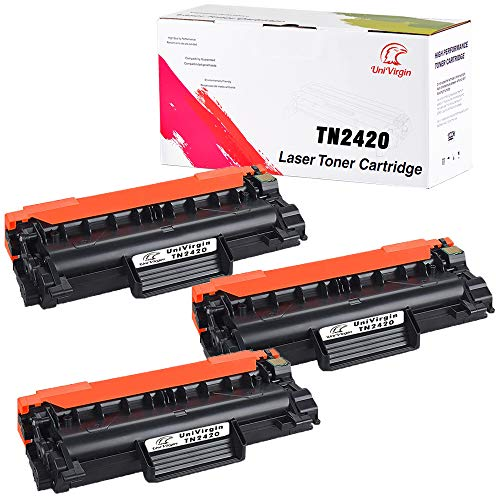 Univirgin - Cartuccia toner di ricambio compatibile con Brother TN2420 TN-2420, colore nero, per Brother HL L2350DW L2375DW L2370DN MFC L2710DN L2730DW L2750DW DCP L2510D L2530DW