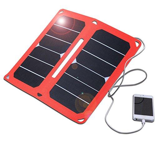 Solarladegerät Dual-USB Port faltbarer mit SunPower Solar Panel für iPhone, iPad, Samsung und Andere Digitale Geräte (15W)