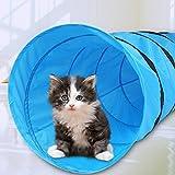 GOTOTOP Hundetunnel Agilitytunnel Spieltunnel Hunde Katzen Training Tunnel blau...