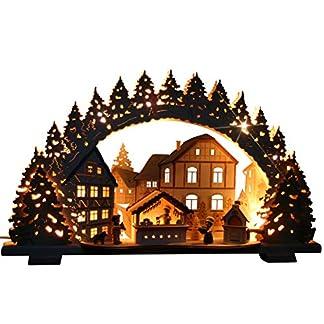 3D-Rucher-Schwibbogen-Weihnachtsbckerei-Exclusiv-Handarbeit-aus-dem-Erzgebirge-Lichterbogen-fr-Weihnachten
