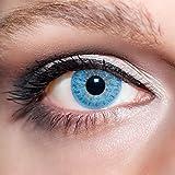 KwikSibs farbige Kontaktlinsen, hellblau, 1-farbig, weich, inklusive Behälter, BC 8.6 mm/DIA 14.0/-2,75 Dioptrien, 1er Pack (1 x 2 Stück)