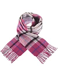 Edinburgh 100% Lambswool Scottish Tartan Reversible Double Faced Scarves