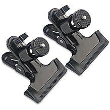 """MIDWEC 2 Pcs Clip Montura triple Clip Abrazadera para HTC VIVE, Para Oculus Rift con Giro de 360 Grados Trípode con Mini Cabeza de Bola tornillo estándar de 1/4"""" tornillo, SLR, SLR Digital, Video Cámaras (type (7))"""