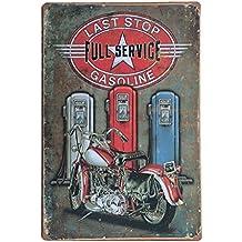 Pósteres Muestra Lata Arte de Cartel Café Placa Vintage Pub Barra Metálica Decoración Motocicleta 30