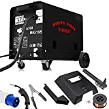 Dirty Pro Tools™ Professional Gasless Mig Welder 195A 195 Amp 230V No Gas