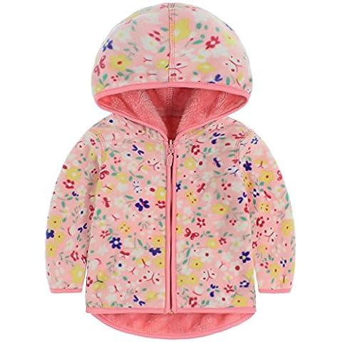 Vine Girls Polar Fleece Jackets Hoodie Jackets Reversible Coats Spring