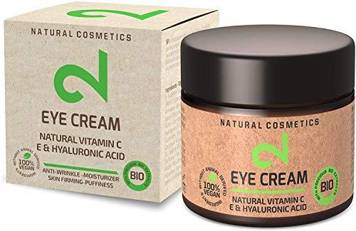 DUAL Eye Cream | Crema Para Ojos Natural y Vegana |Vitamina C y Ácido Hialurónico | Microalgas y Brócoli | Para Contorno…