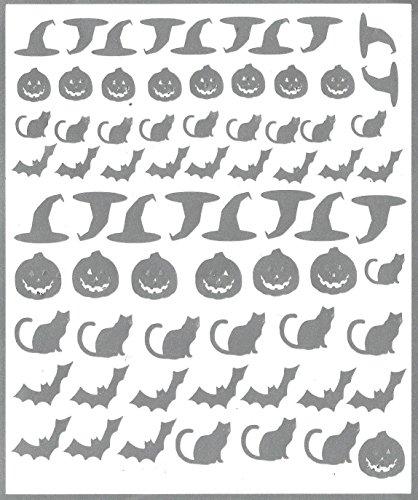 Halloween Nail Stickers muraux en vinyle (Argent)