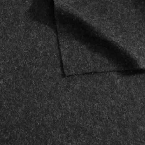 Wollfilz Stoff Meterware Dunkel-Grau meliert