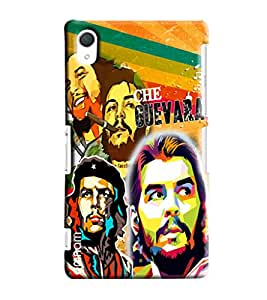 Omnam Guevara Collage Printed Designer Back Cover Case For Sony Xperia Z2