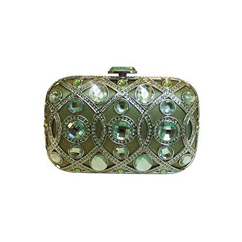 Anna Cecere italienische entworfen lustrino Juwel Clutch Abendtasche - Peridot Grün (Grün Jeweled Handtasche)