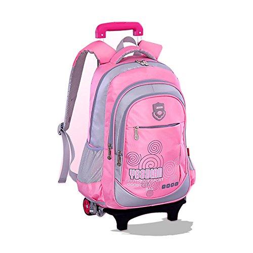 a53267e5bc GudeHome Zaino Trolley borsa di scuola con ruote zaino di scuola con ruote  per viaggio scuola bambini