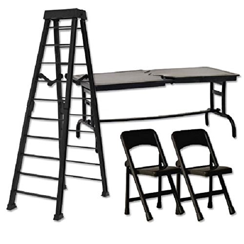 10-black-ladder-ultimate-tlc-set-wrestling-figure-accessories-for-wwe-tna-action-figures