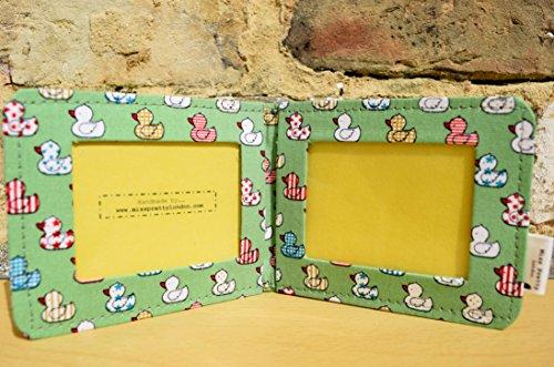 Quacky Ente, Grün, Leder, Kartenfach, aus natürlichem Finish