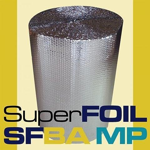SuperFOIL SFBA MP 1.5 x 25 m 25 m 1500 mm Wide Bubble Foil Loft Insulation Aluminium
