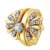 Juego de anillos de boda de oro de dos tonos con...