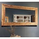BRIX Wandspiegel EROSIE Spiegel 150 x 80 cm Teakholzrahmen Mirror Teakholzspiegel