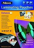 Fellowes 5452101 matte Laminierfolien Enhance 80 Mikron, DIN A4 (100er Pack)