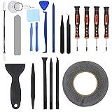 YIAN 22 in 1 Reparatur Werkzeug Set Tool kit für Handy iPhone,iPad,iPods,Tablets Laptops,PC,Smartphones,Uhren,Brillen und Andere Gerät Inkl. Mikrofasertuch