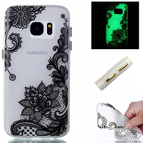 BONROY® Coque pour Samsung Galaxy S7 Edge, Etui Housse de Protection Nuit Luminous Glow Series Transparente Silicone Case Cover Souple TPU Ultra Mince Coquille Anti-scratch Anti Choc Bumper
