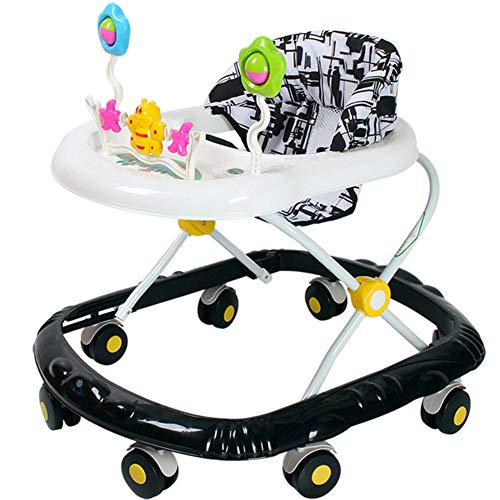Andador para Bebé, Andador De Bebé Interactivo, Alturas Regulables 8 Ruedas Silenciosas, Centro De...