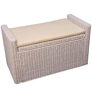 mendler aufbewahrungstruhe truhe sitzbank m92 rattan mit. Black Bedroom Furniture Sets. Home Design Ideas