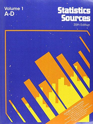 Statistics Sources 35 4v Set (Statistics Sources (2 vol.)) por Not Available