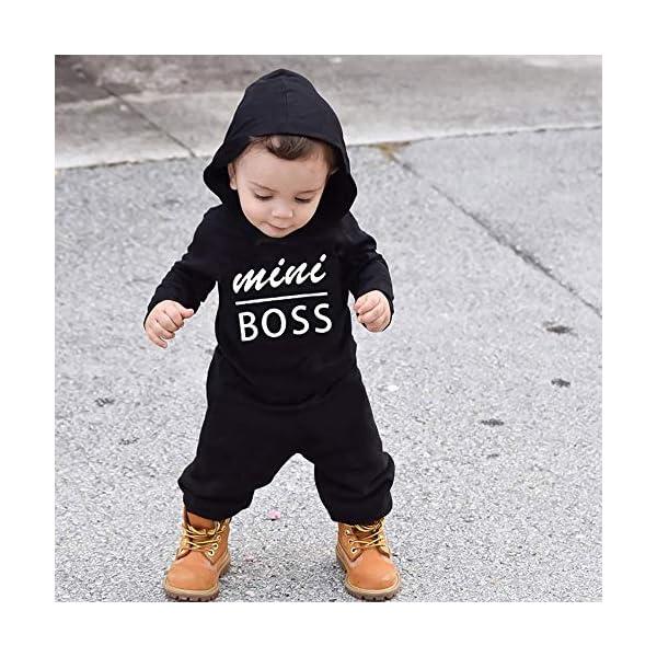 Trisee Ropa de Unisexo bebé Niñas Niños Manga Larga Otoño Invierno Patrón de Letras Camisetas Recien Nacido Trajes Monos… 3