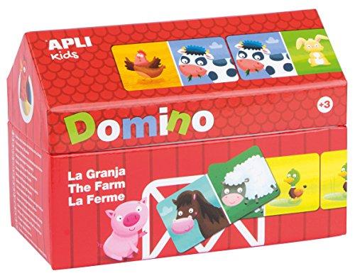 APLI Kids Boîte Domino maison la ferme, 28 Unités (16493)