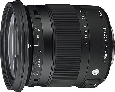 Sigma 17-70 mm f2,8-4,0 Objektiv (DC, Makro, OS, HSM, 72