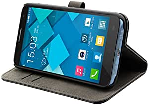Muvit Slim S Folio Etui pour Alcatel One Touch Idol 2 S Noir