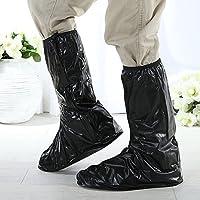 Ducomi® Rain Man.Cubrebotas impermeable unisex con suela antideslizante XL negro