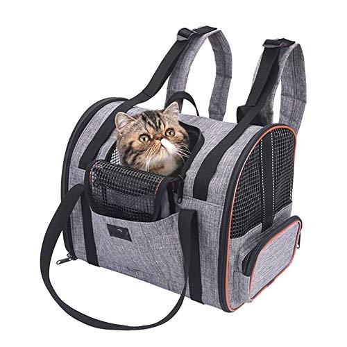 WLDOCA Rucksack für kleine Katze, faltbar waschbar Faltbare Handtasche für Flugzeug Reise Zug Auto Flugzeug