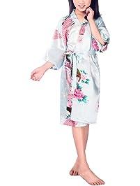 xingyueshop Children Girls Silk Robes ... da109aa1f51b