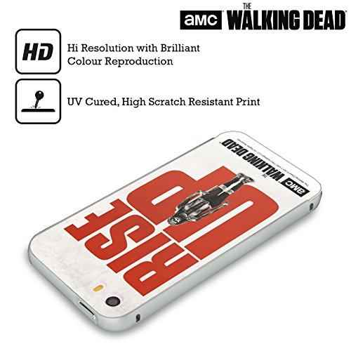 Ufficiale AMC The Walking Dead Daryl Alzarsi Argento Cover Contorno con Bumper in Alluminio per Apple iPhone 5 / 5s / SE Michonne