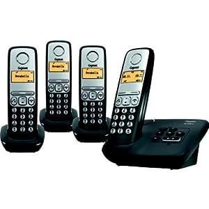 Gigaset AL230A Quatro Téléphones Sans fil Répondeur Ecran Noir