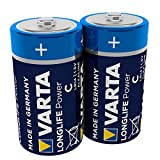 VARTA Longlife Power Batterie C Baby Alkaline Batterien LR14 - 2er Pack