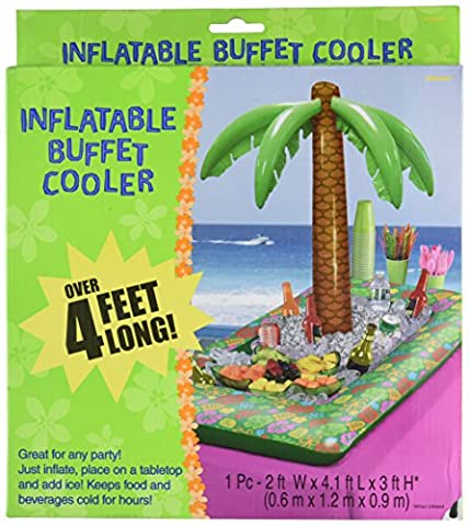 Amscan International 374605 0.6 x 1.2 x 0.9 m hawaïen gonflable Tropical Palm Cooler