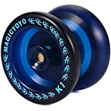 Magic YOYO Profesional K1 YoYo bola (ABS, azul) + 5 cuerdas + Guante, gran regalo de juguete fresco para los niños Amigos TH358