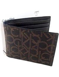 Calvin Klein ck Bifold Folio Billetera marrón
