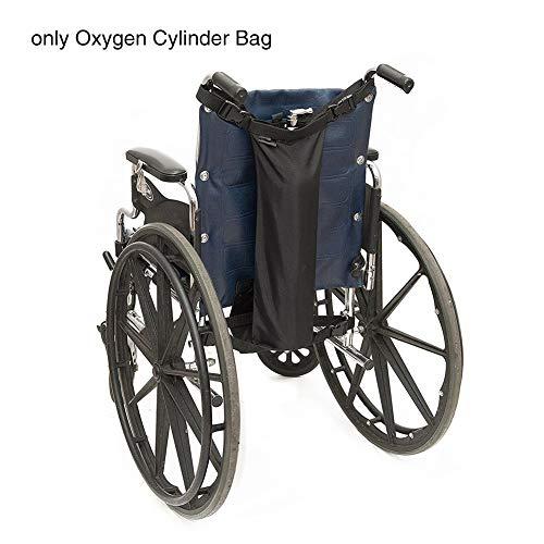 MCLseller Oxygen-Zylinder-Tasche für Rollstühle, Oxygen-Zylinder-Stoff, Aufbewahrungstasche für Rollstühle, Doppelpack, Schwarz, Free Size -