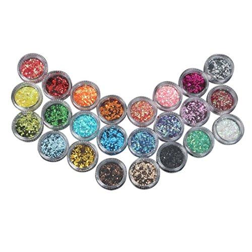 Mode Galerie 24 Couleur Mini Micro-billes Perles 3D Ongles Acrylique Gel UV Decoration Nail Art Strass