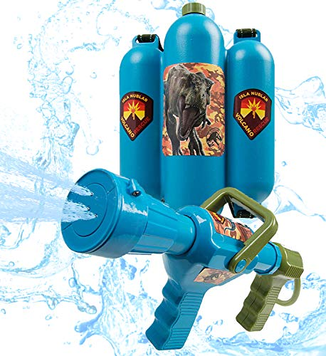 Jurassic World Water Blaster Backpack Garden Juguetes
