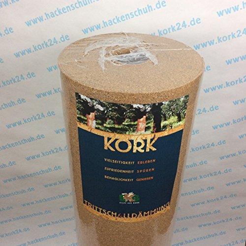 EKB-Kork Trittschalldämmung 10x1m 3mm stark natürliche Dämmunterlage/Rollenkork für Parkett und Laminat