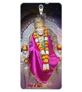 ColourCraft Lord Sai Baba Design Back Case Cover for SONY XPERIA C5 ULTRA