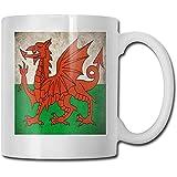 Bandiera del Galles Migliori idee regalo per la festa del papà per tazze da caffè Divertente regalo di Natale Tazza Personalità Bere tazza 11 once (330 ML)